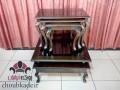 میز جلو مبلی و عسلی چوبی دو طبقه منبتی