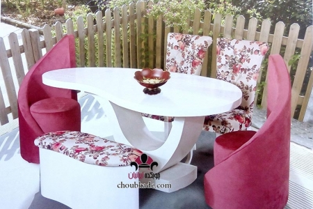 میز غذا خوری لوبیایی