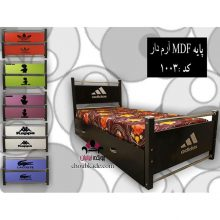 تخت خواب تک نفره پایه MDF آرم دار