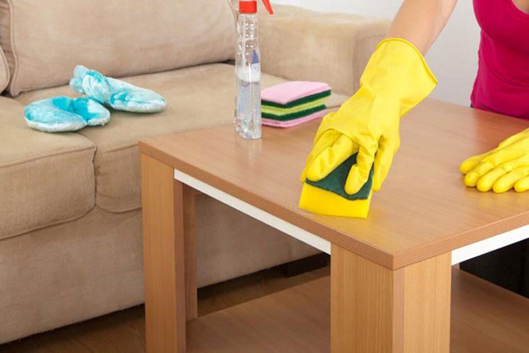 نظافت منظم مبلمان چوبی