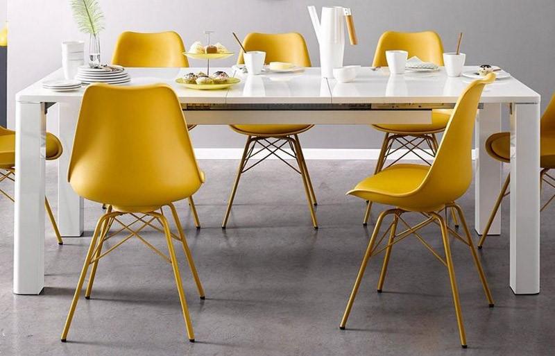 میز ناهار خورهایی  رنگ زرد
