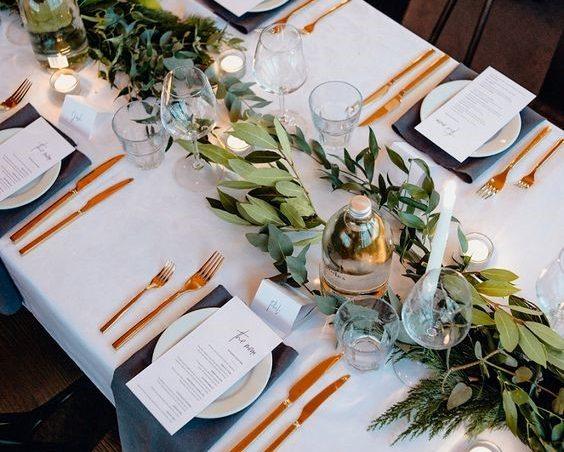 استفاده از گیاه چیدمان میز ناهارخوری در منزل