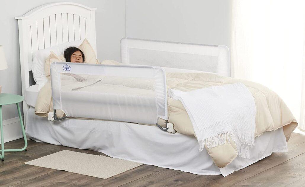 تخت خواب فلزی حفاظ دار